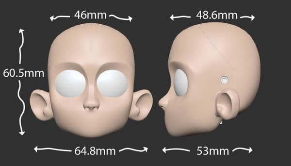 3D Printed Puppet Head - Simple V2